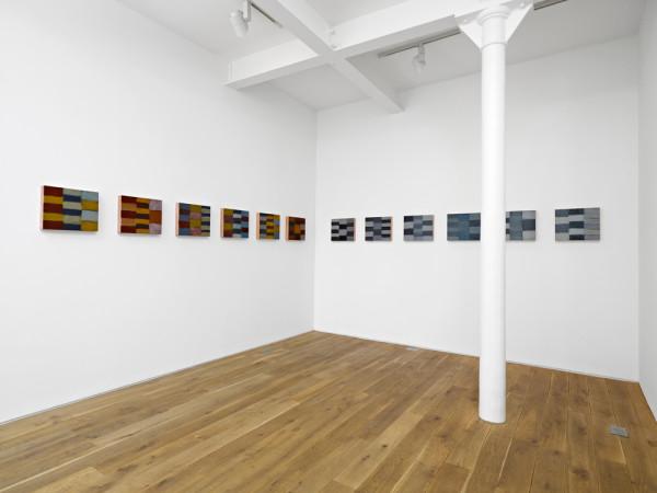 Twelve Triptychs 2008 (Installation view, Ingleby Gallery April 2010) oil on copper twelve parts, 32.2 x 38.2 cm each